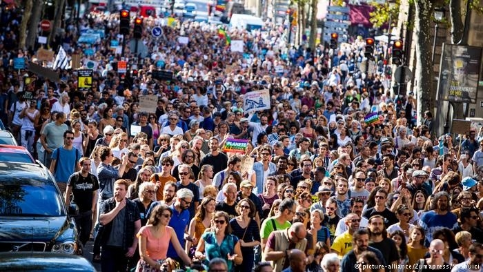 Thousands of people participate in demonstrations to show support for climate change